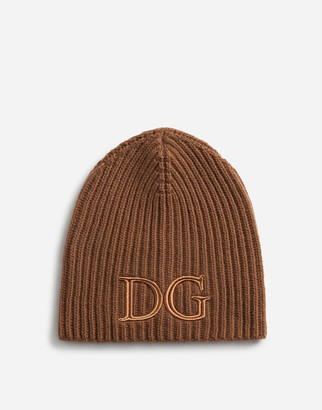 Dolce & Gabbana Wool Hat With Embroidery