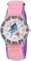 Disney Girl's 'Finding Dory' Quartz Plastic and Nylon Watch, Color:Pink (Model: W002742)