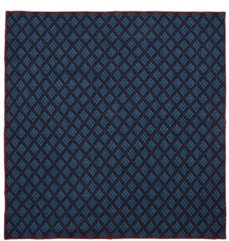Gucci GG-logo Print Silk Pocket Square - Blue Multi