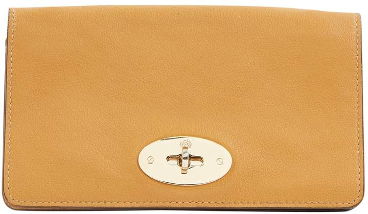 Mulberry Camel Leather Clutch Bag