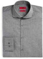 HUGO Jason Textured Slub Solid Slim Fit Dress Shirt