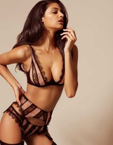 Agent Provocateur Saffi Suspender Black And Nude
