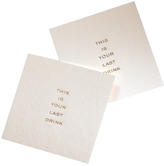 Mrs. John L. Strong Last Drink Coasters- Set of 6