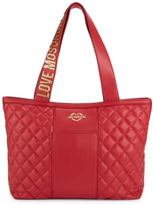 Love Moschino Borsa Quilted Faux Leather Tote
