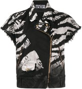 Versace Logo Printed Denim Jacket