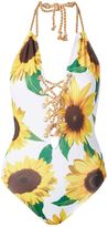 Jaded London **Sunflower Lace Up Swimsuit By