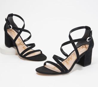 Sam Edelman Leather Strappy Heeled Sandals - Stacie