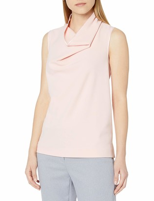 Anne Klein Women's Cowl Neck Sleeveless Blouse