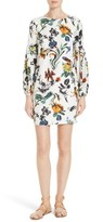 Tibi Women's Gothic Floral Silk Shift Dress