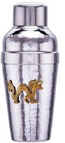 ODI HOUSEWARES Dragon Hammered Stainless Steel Cocktail Shaker with Brass Medallion