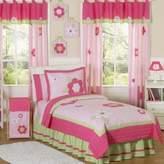 JoJo Designs Sweet Flower 3-Piece Full/Queen Bedding Set in Pink/Green