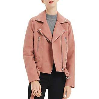 CGTL PU Leather Cropped Jacket Long Sleeve