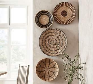 Pottery Barn Woven Baskets Wall Art - Set of 4
