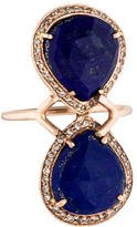 Jacquie Aiche Lapis Teardrop Trinity Ring