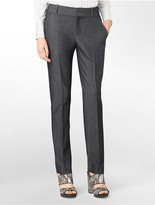 Calvin Klein Womens Essential Skinny Chambray Pants