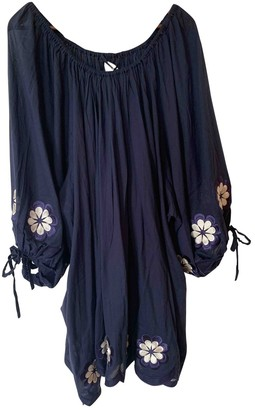 Innika Choo Navy Cotton Dresses