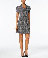 Jessica Howard Petite Printed Cowl-Neck Dress