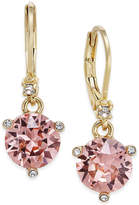 Kate Spade Gold-Tone Pavé & Pink Cubic Zirconia Drop Earrings