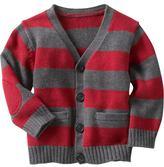 Striped cardigan sweater