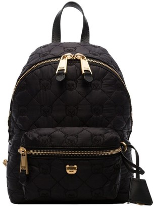 Moschino black Quilted teddy bear motif backpack