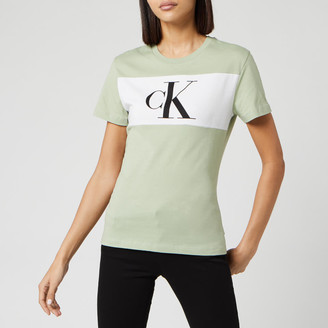 Calvin Klein Jeans Women's Blocking Monogram Short Sleeve T-Shirt