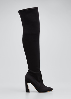 Gianvito Rossi Stretch Twill 100mm Over-The-Knee Boots