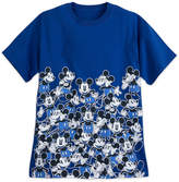 Disney Mickey Mouse Allover Timeless T-Shirt - Blue - Adults
