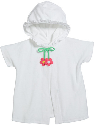 Florence Eiseman Girl's Terry Hooded Coverup, Size 6-24 Months