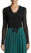 Fuzzi Ballet Tie-Wrap Cardigan, Black