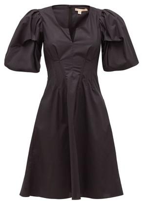 Brock Collection Puff-sleeve Cotton-blend Dress - Womens - Black