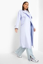 Thumbnail for your product : boohoo Double Layer Trench Coat