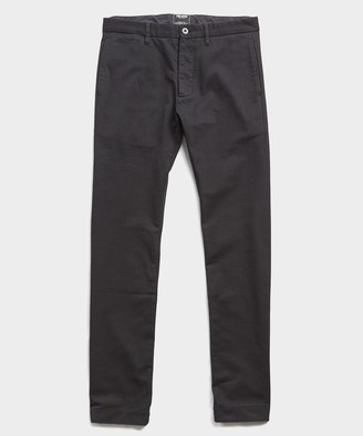 Todd Snyder Japanese Garment Dyed Selvedge Chino in Jet Black