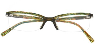 Prada Pre-Owned 1990s Marble Effect Square Glasses