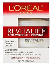 L'Oreal RevitaLift Anti-Wrinkle + Firming Face & Neck Contour Cream, 1.7 Fluid Ounce (Pack of 2)