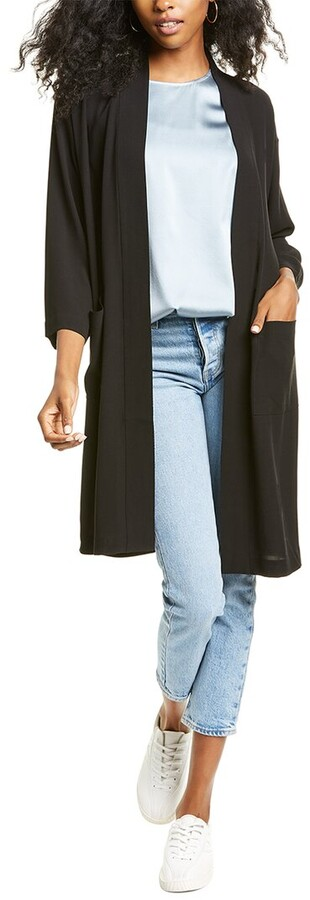 Thumbnail for your product : Eileen Fisher Georgette Crepe Silk Kimono Jacket
