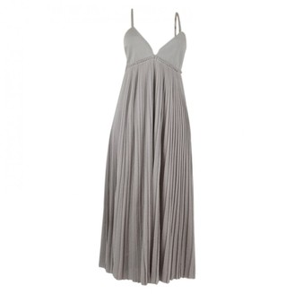 Malo Grey Cotton Dresses