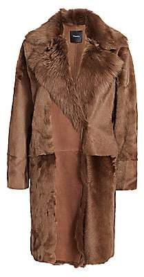Theory Women's Jathan Hollice Shearling Coat