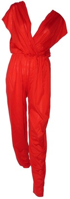 Eres \N Red Cotton Jumpsuit for Women