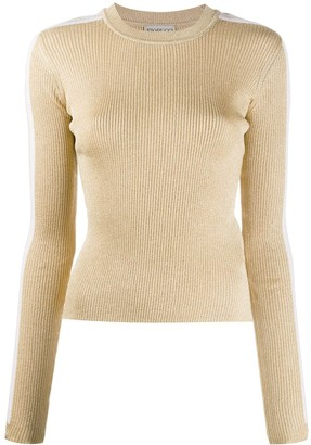 Fiorucci Side-Stripe Ribbed-Knit Jumper