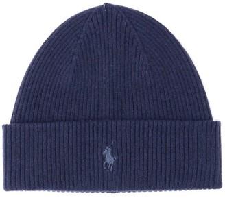 Polo Ralph Lauren Logo Rib-Knit Beanie