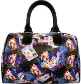 Bettie Page Women's Collage Satchel Bag BPG1082
