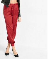 Express mid rise tie front jogger pant