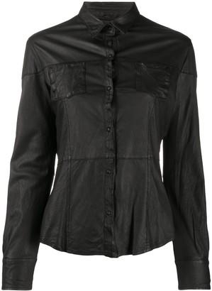 Giorgio Brato Leather Slim-Fit Shirt