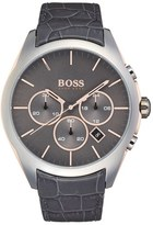 BOSS Men's 'Onyx' Chronograph Crocodile Leather Strap Watch, 44Mm