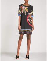 Etro Jungle-print crepe mini dress