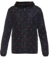 Gucci Detachable hood bee-print nylon jacket