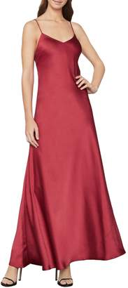 BCBGMAXAZRIA Open-Back Satin Maxi Dress
