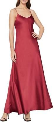BCBGMAXAZRIA Open-Back Satin Maxi Dress