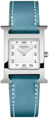 Hermes Heure H Watch, Stainless Steel & Leather Strap