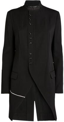 Yohji Yamamoto Stand Collar Button-Up Jacket